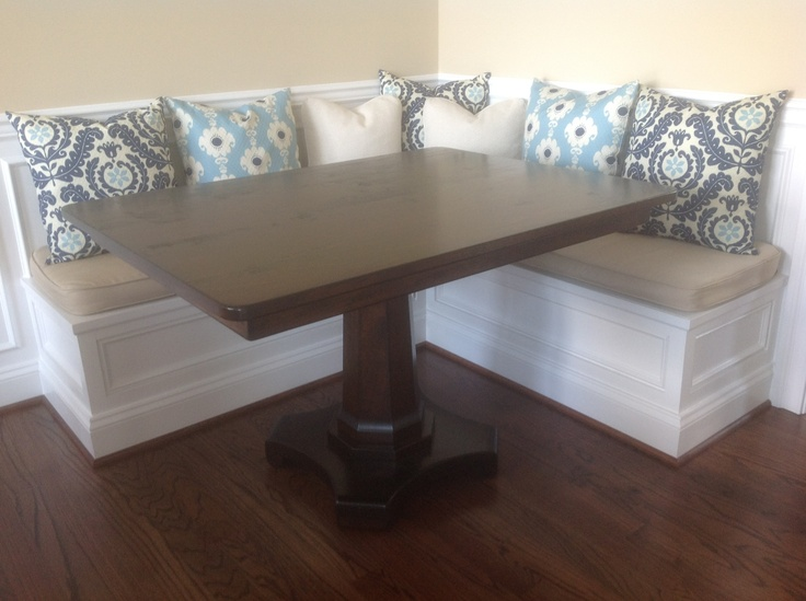 We love what our customer did with the pedestal table Furniture From The Barn built for them. Looks lovely accented by the pillows.