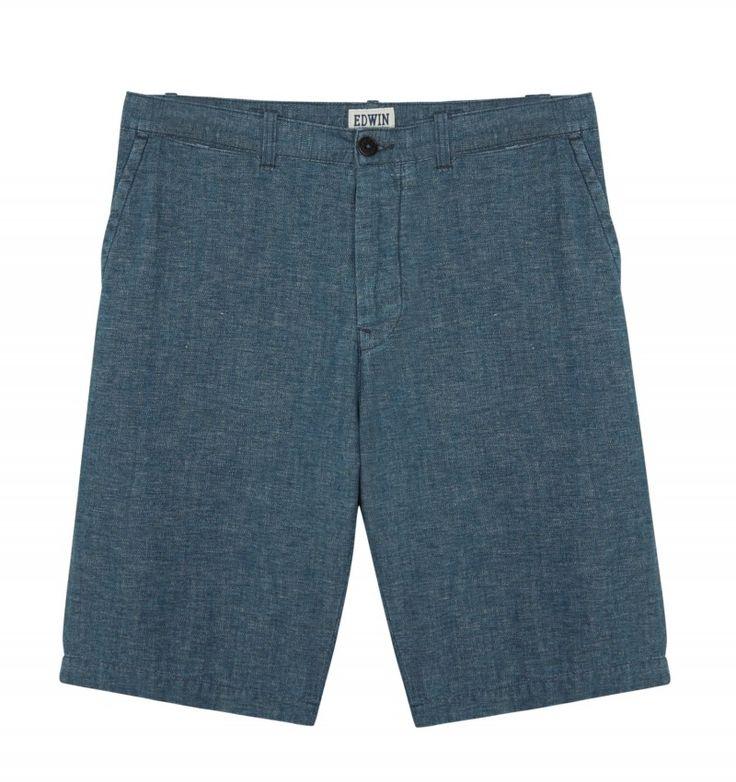 Edwin CHAMBRAY RAIL SHORT #Edwin #Shorts