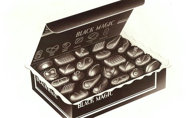 Sweet stalwart: Black Magic was launched in 1933 retro #packaging Mmmm chocolate PD