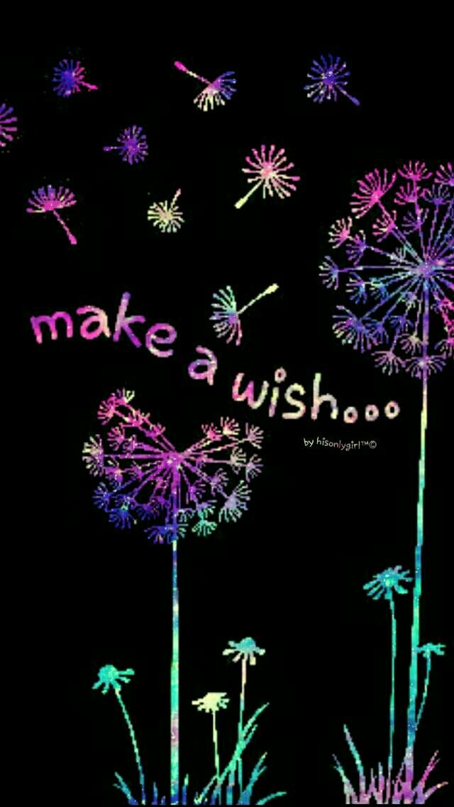 Make a wish galaxy iPhone & Android wallpaper I created for the app CocoPPa.