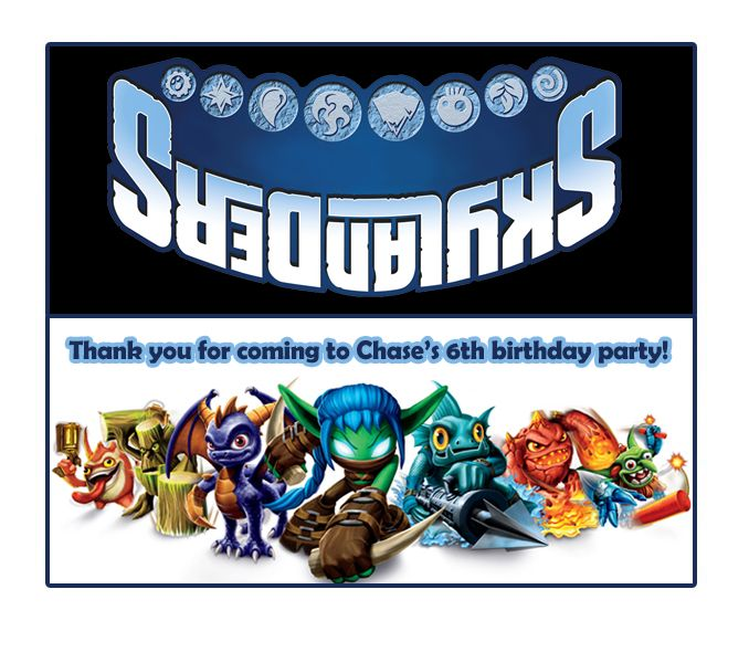Skylanders Giants Printable Thank You Card By Birthday Cards For Print 152 Best Images On Pinterest