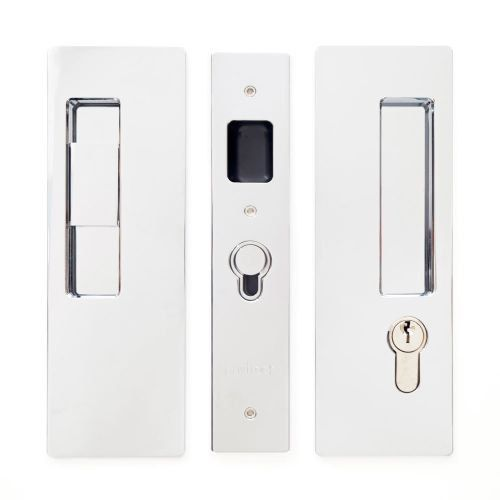 Cavilock CL400C-KE-38-RH Magnetic Latching Right Handed Keyed Entry Pocket Door Pull for 1-3/8 Inch Door Thickness (