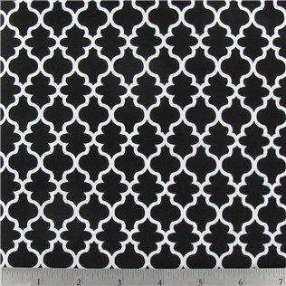Black And White Lattice Fabric Only 489 Per Yard House Of Thrift