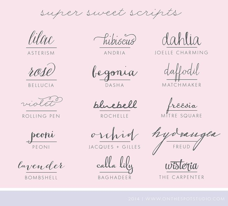 Script fonts super sweet found on blog on the spot for Cursive script tattoo fonts