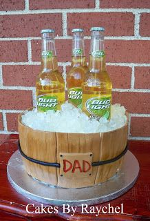 My Creative Way: Beer Bucket Cake. Father's Day Cake.