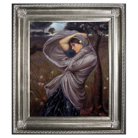 Add gallery-worthy appeal to your walls with this hand-painted oil on canvas reproduction of Waterhouse's Boreas. Display it alone as an artful focal ...