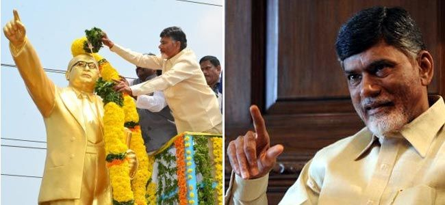 AP: #Naidu lays foundation stone for Rs 100-cr #Ambedkar park   Andhra Pradesh Chief Minister N Chandrababu Naidu laid the foundation-stone for the Rs 100 crore Dr B R Ambedkar Smriti Vanam (memorial park) at Inavolu village, marking the 125th birth anniversary of the architect of Indian Constitution.    He also laid the foundation-stone for a 126-ft statue of Ambedkar that will come up in the park, spread over a 20-acre site.
