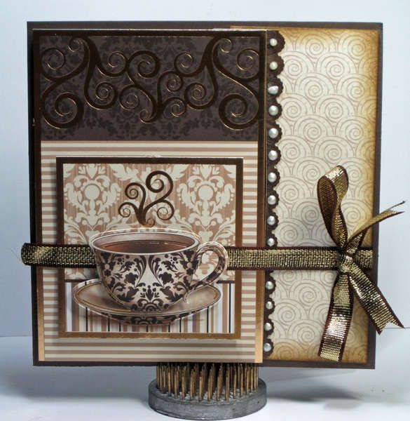 LOVE this tea cup card! Rich color...what a joy it would be to receive this one!