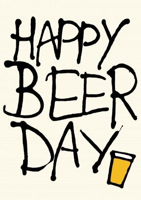Happy Beer Day sobrino!! te amo!. Funny beer filled Birthday Card