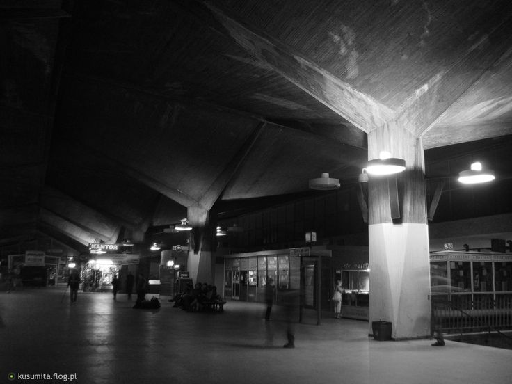 Nie istniejący już Dworzec PKP w Katowicach (1972-2010)