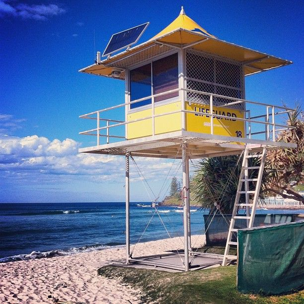 Lifeguard Tower in Burleigh Heads, #GoldCoast by niqueey90 #thisisqueensland #instagram