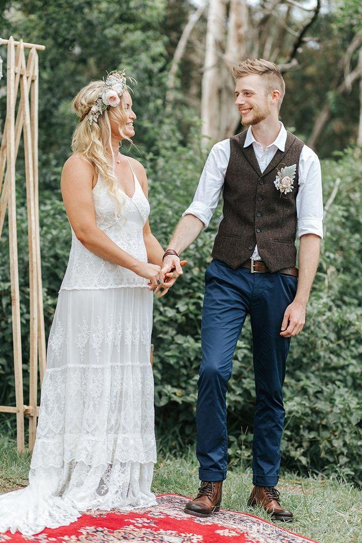 2019 Farm Dark Brown Groom Vests Wool Herringbone Tweed Custom Made Groomsmen Attire Slim Fit Mens Dress Prom Wedding Waistcoat Plus Size Wedding Suit Man Weddi Wedding Waistcoats Mens Wedding Attire