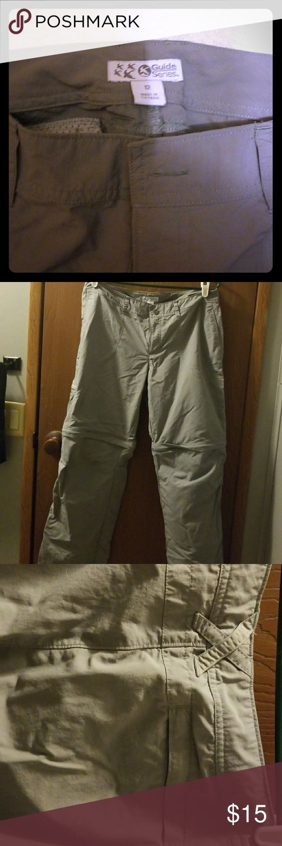 Gander mountain guide series hiking pants Zip off pants legs to convert to shorts. No fraying or rips. Soft durable fabric. One side pocket. One back pocket and two front pockets. Like new condition. gander mountain Pants Track Pants & Joggers