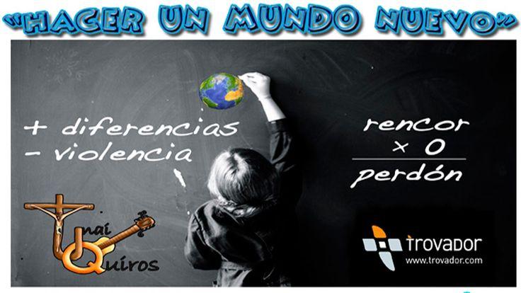 #Hacerunmundonuevo tema para trabajar el Día Escolar de la No Violencia y la Paz. Unai Quirós ha preparado esta canción así como los materiales para trabaj...