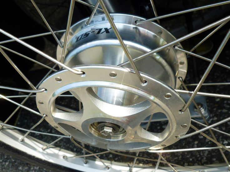 Sturmey-Archer 90 mm front brake on WAW 291 velomobile