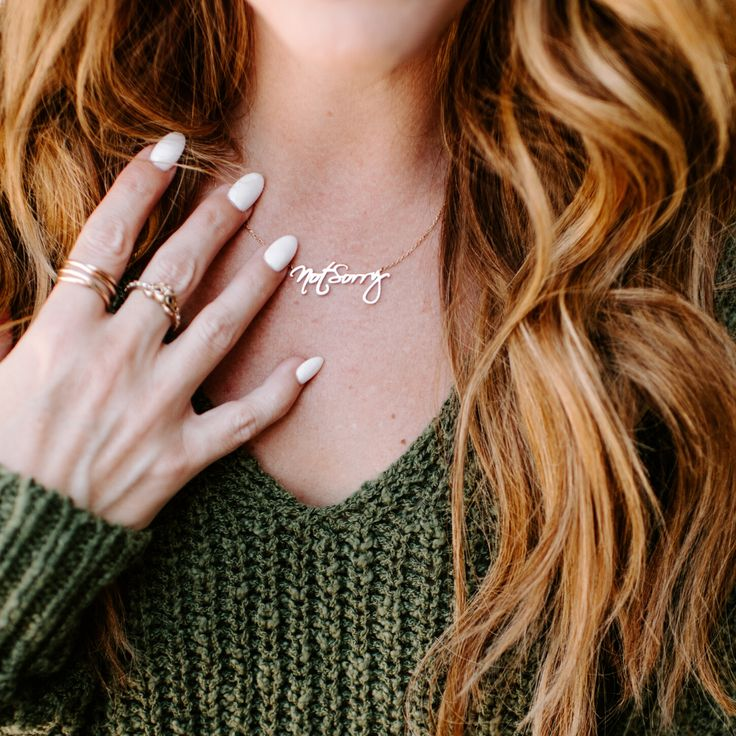NOT SORRY NECKLACE The Hollis Co Thin gold chain