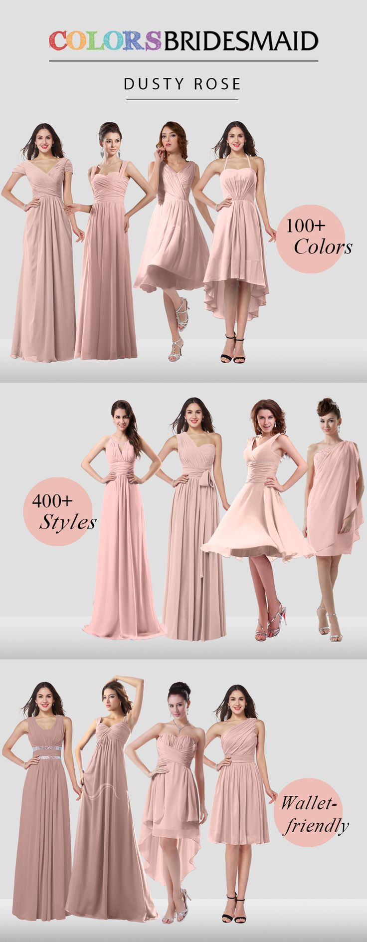 Pink bridesmaid dresses in 500+ styles and $69 up will always satisfy you!