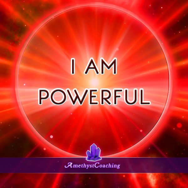 ***Special affirmation week to open chakras*** During the next 7 days we will post an affirmation for each chakra. Today's Affirmation for the Root chakra: I Am Powerful <3 #affirmation #coaching