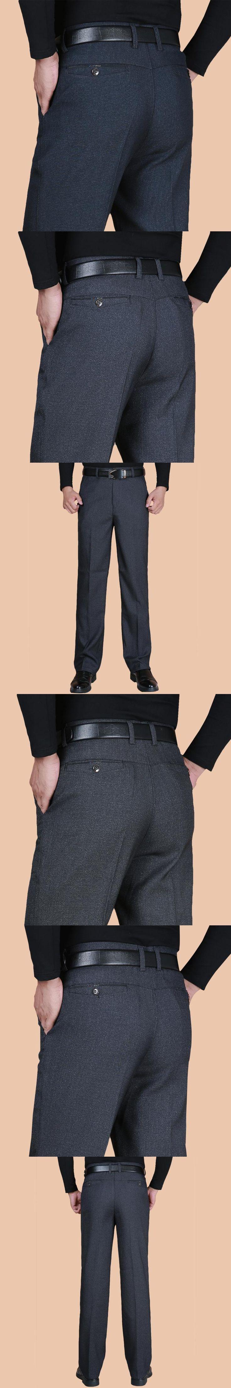 Fashion Men Dress Pants Spring Autumn Classic Business Plus Size 20-40 Casual Straight Trousers Suit Pants Men Pantalon Hombre