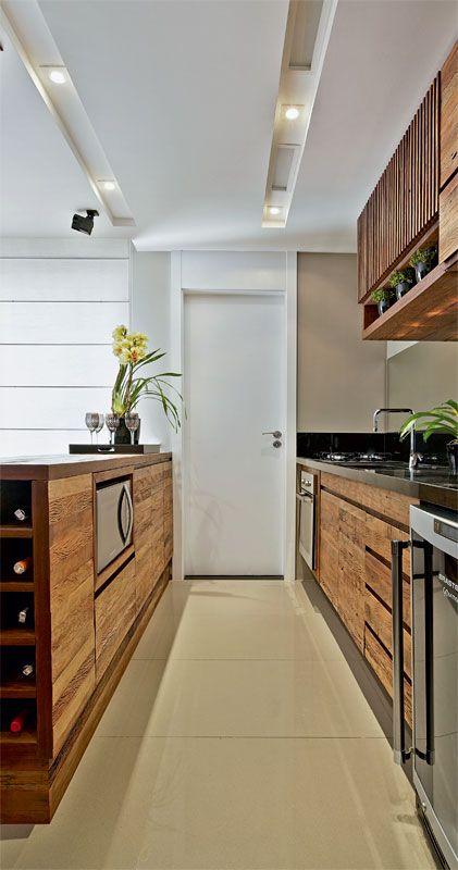 Reforma do apartamento uniu cozinha e sala - Casa