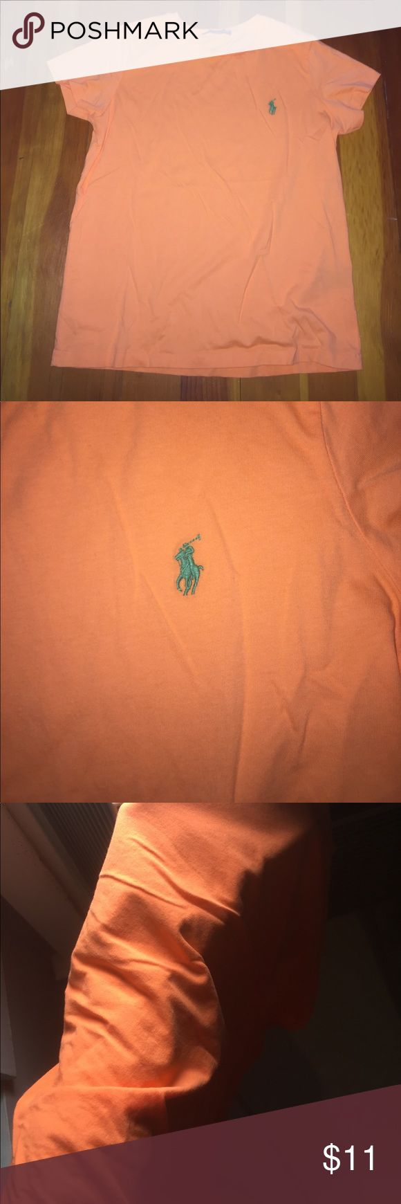 Orange polo shirt Never been worn!!!!! Got from factory store because it was miss marked as medium instead of small!! Polo by Ralph Lauren Tops
