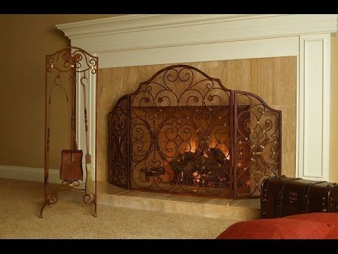 Large Decorative Custom Fireplace Screens
