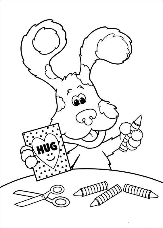 Pistas De Blue 35 Dibujos Faciles Para Dibujar Para Ninos Colorear Nick Jr Coloring Pages Coloring Books Coloring Pages