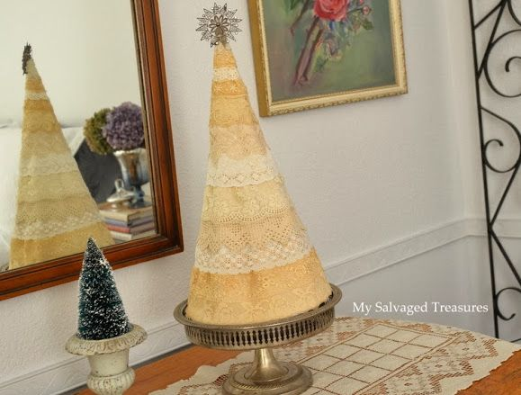 Vintage Lace Christmas Tree