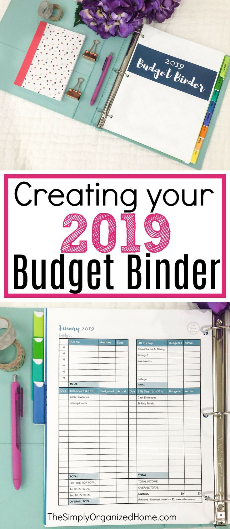 Creating Your 2019 Budget Binder Budgeting finances