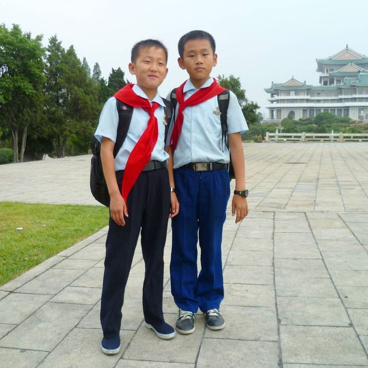 ...As we were walking along these two seven year old fellas were smiling at me.  I said Hello! to them.  One of the boys asked Hello how are you? The other asked What is your name? I was amazed they are learning English. My guide Kim told me that English is now the second most important language of North Korea ahead of both Russian and Chinese... ____________________________________________________ - For the day article that goes with this photo try this:  http://ift.tt/2tFeg8v  Pyongyang…