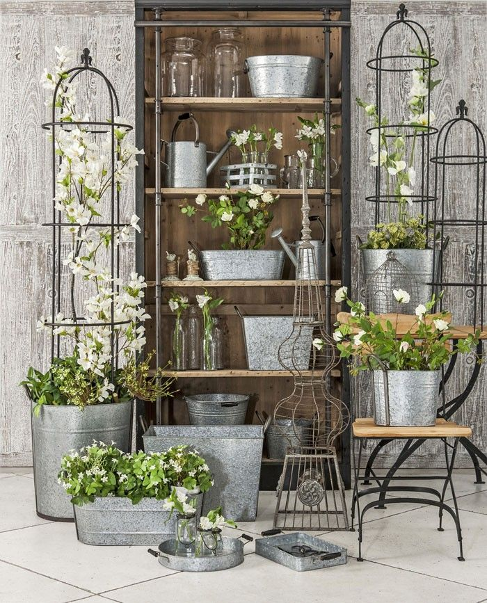 62 best french country images on pinterest country for Rustic outdoor decorating
