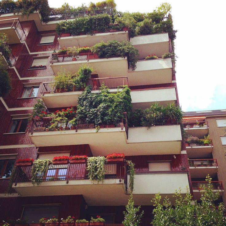 Via Morosini in Milano, Lombardia http://omnesgreen.tumblr.com/post/91837455642/omnesgreen-italy-milano-follow-me-on