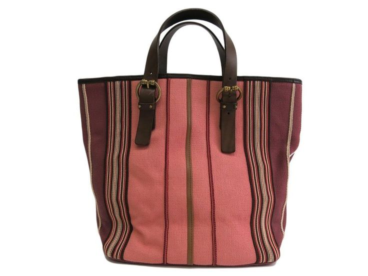 #BOTTEGAVENETA Tote Bag Canvas/Leather Pink/Brown 172028 (BF102022): #eLADY global offers free shipping worldwide. For more pre-owned luxury brand items, visit http://global.elady.com