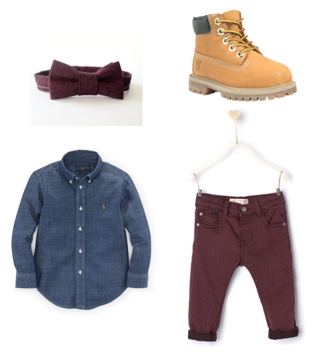 """Bowtie & Timberlands- Toddler"" by xxelizabeth on Polyvore"