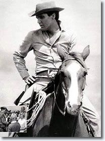 Elvis riding Big Red for his movie Flaming Star