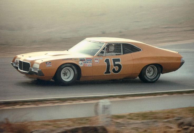David Pearson Riverside 1972 Bud Moore's first new NASCAR Torino coming back form Trans Am