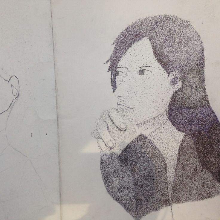 stippling(portrait) Sung