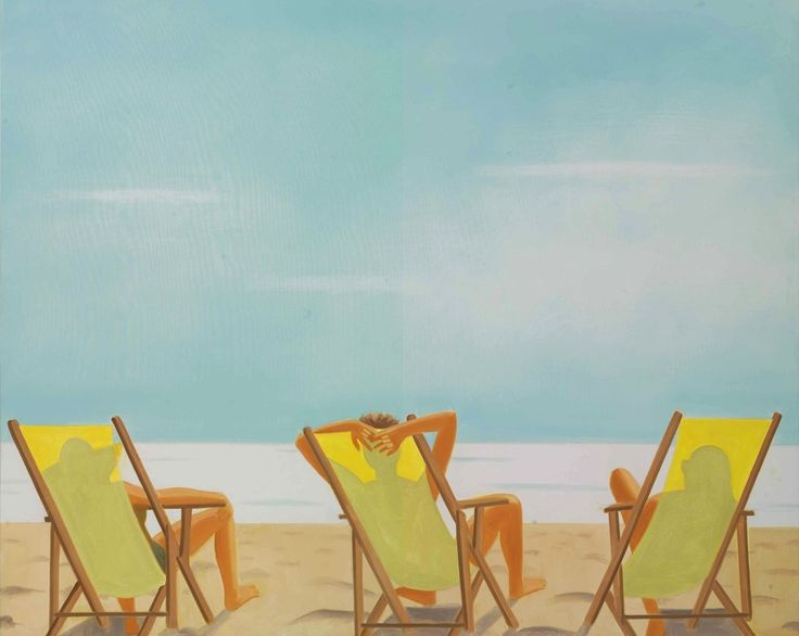 thunderstruck9: Alex Katz (American, b. 1927), Nine A.M., 1999. Oil on canvas, 96 x 120 in.