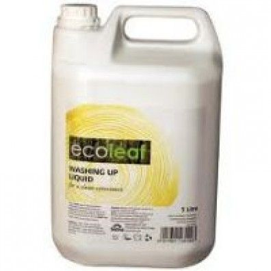 EcoLeaf Washing Up Liquid 5 Litre made in West Yorkshire and supplied by Green Stationery Co in Somerset - £20.28