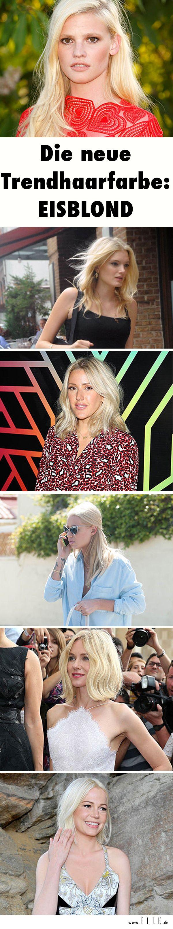 Bronde und Ombré, rutscht rüber – die neue Trendhaarfarbe heißt jetzt Eisblond! Stars wie Michelle Williams, Poppy Delevingne und Naomi Watts geben den Look vor. http://on.elle.de/1OpxD5E