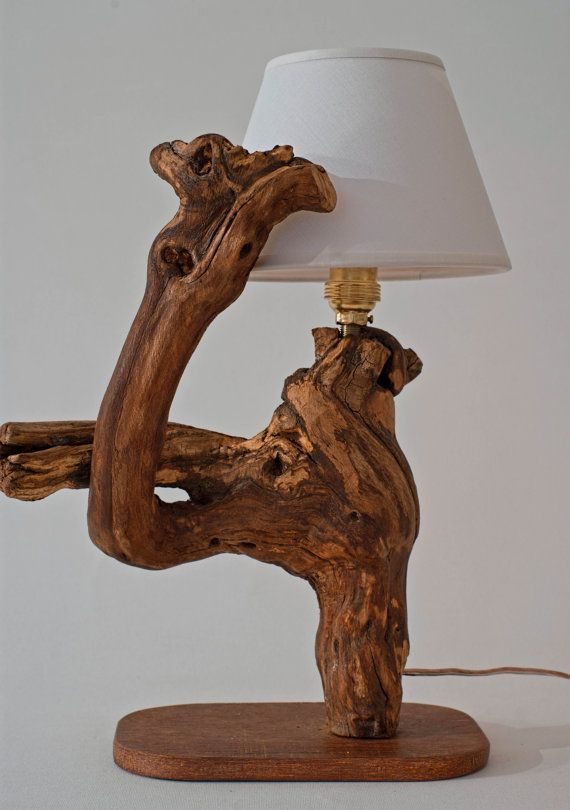 Luxurious Lamp, Driftwood Lamp, Small table Lamp, Small Bedside Lamp, Natural Sculpture Lamp, Handmade Lamp, Natural Wooden Lamp