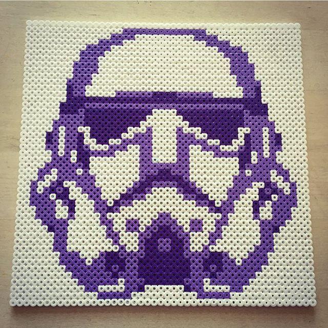 Purple stormtrooper - Star Wars hama beads by annasthlm