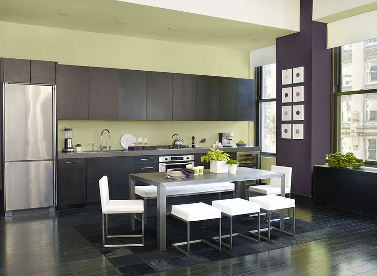 60 best kitchen color samples images on pinterest for Colour scheme for kitchen walls