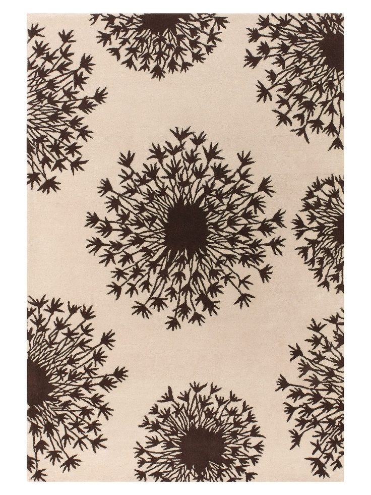 Thomas Paul Seed rug, in chocolate and cream.
