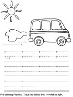 Line drawing for pre-writing skills. Includes worksheets for a variety of lines.