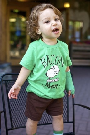 Bacon had a Mom - Vegan kids' tee