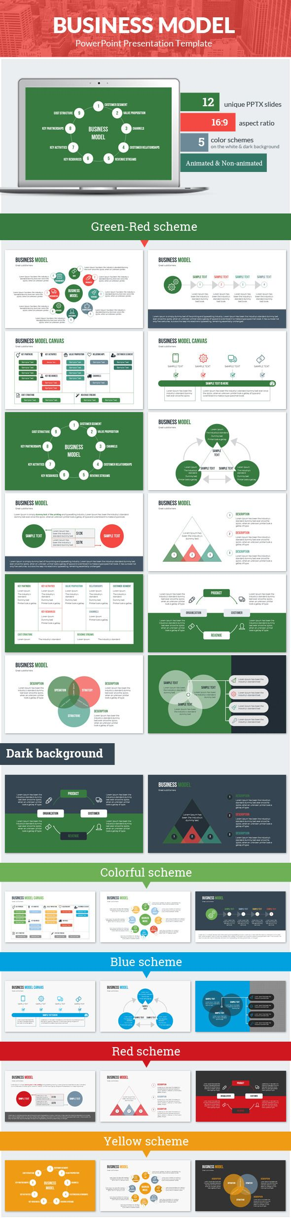 Business Model PowerPoint Presentation Template #design #slides Download: http://graphicriver.net/item/business-model-powerpoint-presentation-template/12251341?ref=ksioks