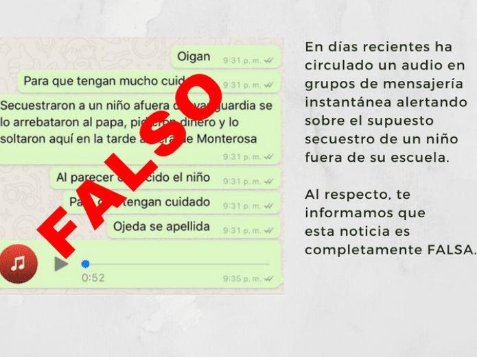 Circula audio falso sobre el secuestro de un niño en Hermosillo