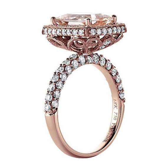 Hey, I found this really awesome Etsy listing at https://www.etsy.com/listing/194769405/morganite-engagement-ring-18kt-rose-gold