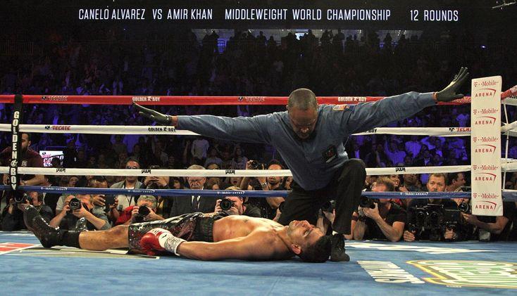 Canelo Alvarez retains WBC title after brutal knockout of Amir Khan
